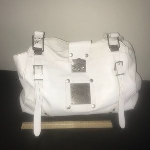 Juicy Couture white leather bag